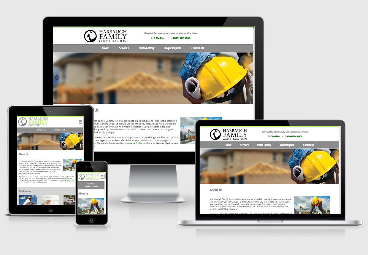 Harbaughfamilyconstruction Responsive