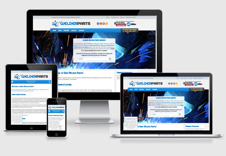 Responsive Web Design Cleveland Ohio: Shopwelderparts-responsive